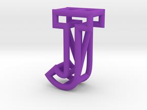 J in Purple Processed Versatile Plastic