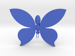 Burtterfly On Your Wall - Big in Blue Processed Versatile Plastic