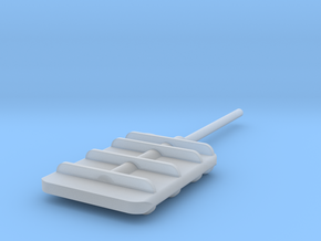 Flanking Rudder in Smooth Fine Detail Plastic