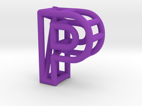 P in Purple Processed Versatile Plastic
