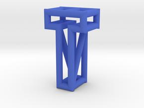 T in Blue Processed Versatile Plastic