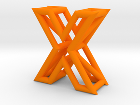 X in Orange Processed Versatile Plastic