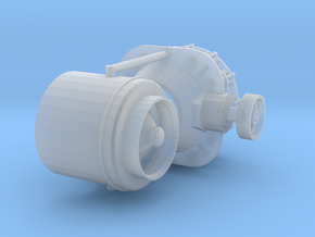 1/87th Vertical Cone Crusher Drum in Smooth Fine Detail Plastic