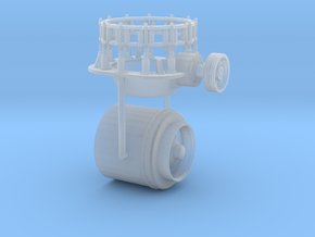 1/50th Vertical Cone Crusher Drum in Smooth Fine Detail Plastic
