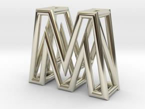 M in 14k White Gold