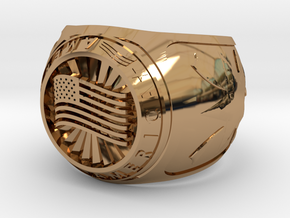 America Ring 24mm in Polished Brass