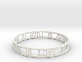 LOVE IS HAPPINESS IS LOVE - simple in White Natural Versatile Plastic