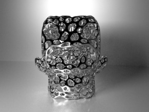 Monster Pencilpot - Voronoi Coarse in White Strong & Flexible