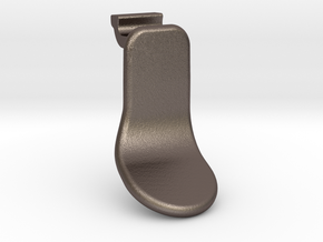 Elite Short Paddle Right in Polished Bronzed Silver Steel