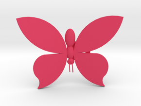 Butterfly On Your Wall - Small in Pink Processed Versatile Plastic
