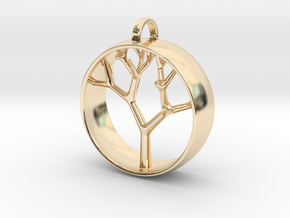 Natural Collection - Tree Pendant in 14K Yellow Gold