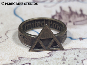 Ring - Triforce of Power in Polished Bronze Steel: 13 / 69