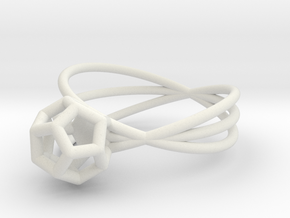 Essential Simplicity - Ring in White Natural Versatile Plastic