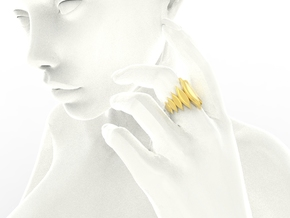 Fashion Fire Ring 1010 in 18k Gold Plated Brass