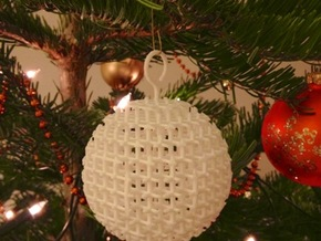 Starry Christmas Ball D77 in White Strong & Flexible