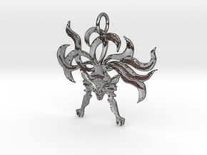 9Tails Kuubi Pendant in Polished Silver