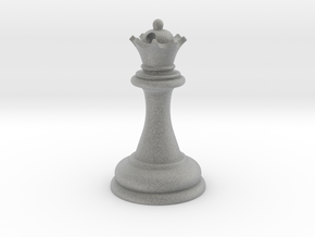 Chess Queen in Metallic Plastic