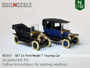 SET 2x Ford Model T (N 1:160) in Smooth Fine Detail Plastic