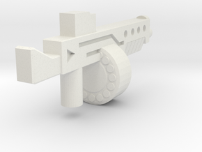 Auto12Blasterv2 in White Natural Versatile Plastic