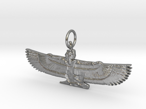 Maat Pendant in Natural Silver