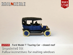 Ford Model T - closed roof (British N 1:148) in Frosted Ultra Detail