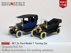 SET 2x Ford Model T (British N 1:148) in Smooth Fine Detail Plastic