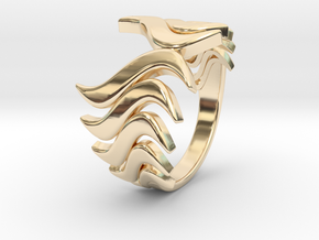 Fashion Fire Ring 1008 in 14K Yellow Gold