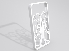 Spiral Tree iPhone 5 case in White Strong & Flexible