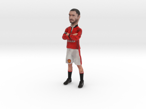 Eric Cantona with folded arms in Manchester United in Full Color Sandstone