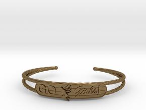 Go Girls Bracelet in Polished Bronze