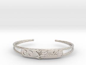Go Girls Bracelet in Rhodium Plated Brass