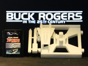Thunder Fighter, X-Wing Base (Buck Rogers), 1/270 in White Strong & Flexible