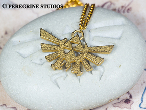 Pendant - Hylian Crest (No Base) in Polished Gold Steel