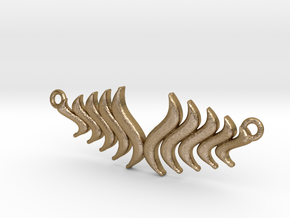Fashion Fire Pendant1008 in Polished Gold Steel