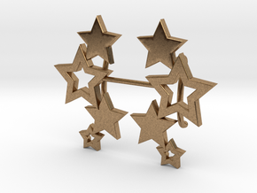 Earring Star 1011 in Natural Brass
