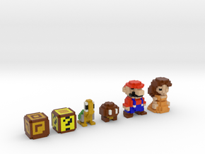 Super Mario Land Color (Set) in Full Color Sandstone