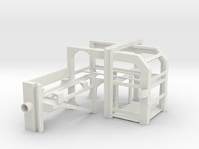 1/16 USN Depth Charge Loader Rack opposite in White Natural Versatile Plastic