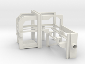 1/16 USN DC Loader Rack (Right) in White Natural Versatile Plastic