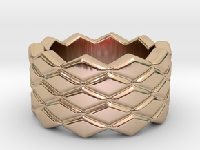 Rhombus Ring 31 – Italian Size 31 in 14k Rose Gold Plated