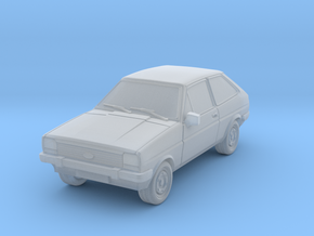 1:87 Ford fiesta mk 1 ho scale hollow 1-mm in Smooth Fine Detail Plastic