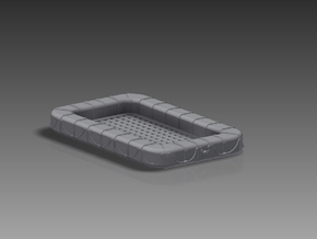 60 Man Rectangular Float 1/96 in Frosted Ultra Detail