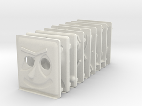 miniFloppyBot Faces Kit in White Natural Versatile Plastic