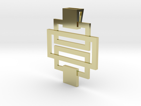 Pendant Rectangular in 18k Gold Plated Brass