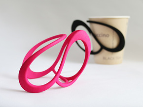 Cup Holder in Pink Strong & Flexible Polished