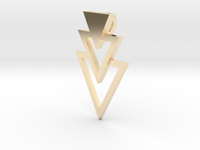 Pendant Triangles in 14K Yellow Gold