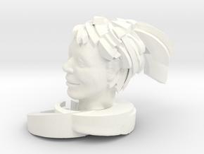 """Swoosh 5"""" in White Processed Versatile Plastic"""