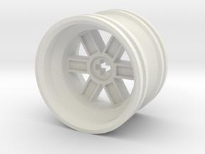 Wheel Design V in White Natural Versatile Plastic