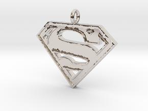 Superman Necklace in Platinum