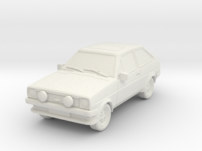 1:87 Fiesta mk1 xr2 hollow ho 1mm-walls (repaired) in White Natural Versatile Plastic