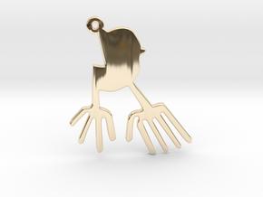 Nazca: The Bird in 14k Gold Plated Brass